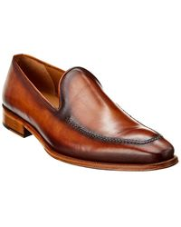 Mezlan Leather Loafer - Brown