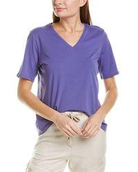 Eileen Fisher V-neck Top - Blue