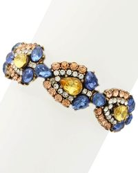 Sparkling Sage - 14k Plated Crystal & Resin Collage Stretch Bracelet - Lyst