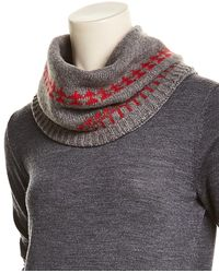 Portolano - Dark Grey Collar Scarf - Lyst