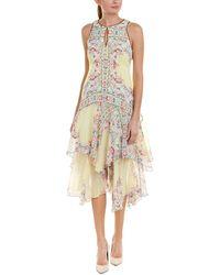 Nanette Lepore Silk Midi Dress - Multicolour