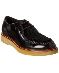 Tod's Leather & Sherpa Oxford - Black