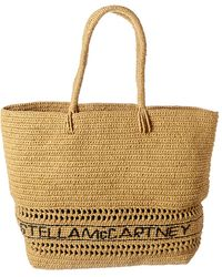 Stella McCartney Medium Crochet Raffia Tote - Multicolour