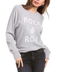 Zadig & Voltaire Upper Rock & Roll Decal Sweatshirt - Gray