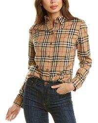 Burberry Button-down Collar Vintage Check Shirt - Brown