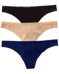 DKNY Set Of 3 Thong - Blue