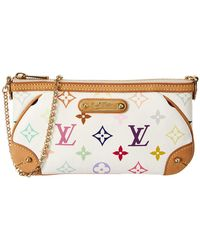 Louis Vuitton White Monogram Multicolore Canvas Pochette Milla Mm - Multicolour