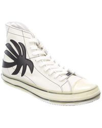 Palm Angels Palm Leather High-top Sneaker - White