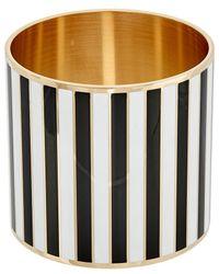 Givenchy - Extra Large Striped Enamel Bangle - Lyst
