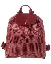 Longchamp Le Pliage Nylon Backpack - Pink