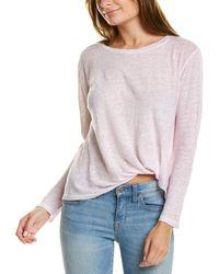 Young Fabulous & Broke Twister Linen T-shirt - Multicolor