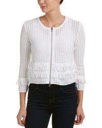 Autumn Cashmere Cotton By Jacket - White