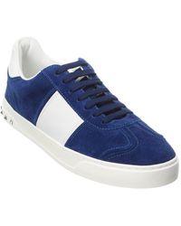Valentino - Valentino Garavani Suede & Leather Sneaker - Lyst