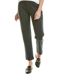 Eileen Fisher Slim Ankle Pant - Green