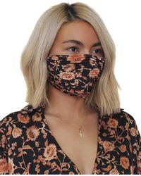 Significant Other Pleated Cloth Face Mask - Brown