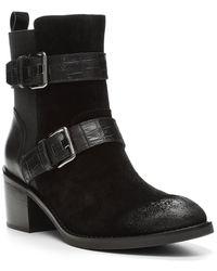 Donald J Pliner Dahlin Suede Boot - Black