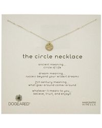 Dogeared - Silver Circle Disc Necklace - Lyst