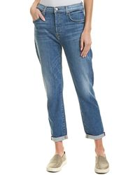 7 For All Mankind 7 For All Mankind Josefina Powder High-waist Skinny Boyfriend Cut - Blue