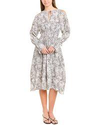 AllSaints Allsaints Lavete Paisley Midi Dress - White