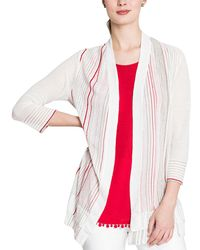 NIC+ZOE Petite Linen-blend Cardigan - Multicolour