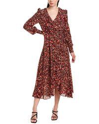 Karen Millen Wrap Dress - Red