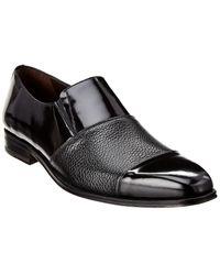 Mezlan Deerskin Leather Loafer - Black