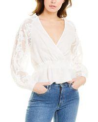 Suboo Novella Lace Linen Wrap Blouse - White