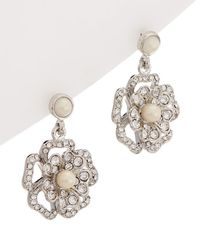 Carolee Grand Entrance Double Drop Earrings - Metallic