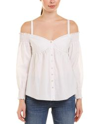 Rebecca Taylor Off-the-shoulder Top - White