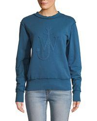 JW Anderson - J.w. Anderson Embroidered Logo Sweatshirt - Lyst
