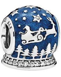 PANDORA Silver Enamel Charm - Blue