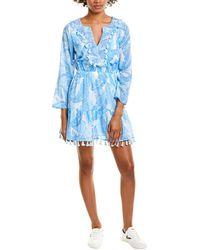 Sail To Sable Tassel A-line Dress - Blue