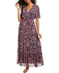 Donna Morgan Mesh Maxi Dress - Blue