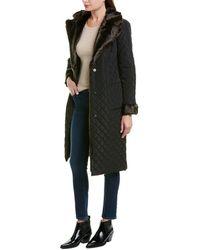 Badgley Mischka Quilted Coat - Black