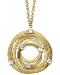 Marco Bicego Goa 18k 0.18 Ct. Tw. Diamond Knot Pendant Necklace - Metallic