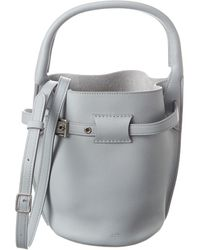 Celine Nano Big Bag Leather Bucket Bag - Grey