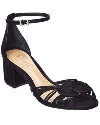 Schutz Aniely Suede Sandal - Black