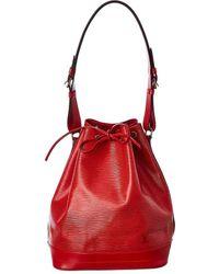 Louis Vuitton Epi Leather Noe - Red