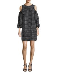 Maggy London - Novelty Geo Lace Cold Shoulder Dress - Lyst
