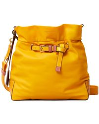 Tory Burch Perry Nylon Drawstring Bucket Bag - Yellow