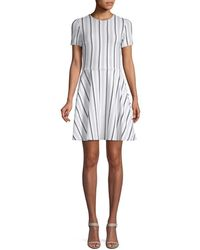 Opening Ceremony - Striped A-line Dress - Lyst