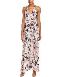 a00943c3746f Lyst - Leonard Cassandra Wrap Maxi Dress in Blue