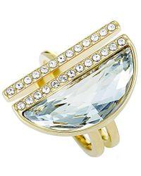 Swarovski Crystal Plated Ring - Metallic