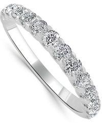 Sabrina Designs 14k 0.57 Ct. Tw. Diamond Half-eternity Ring - Metallic