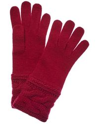 Portolano - Berry Cheery Wool-blend Gloves - Lyst