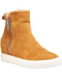 Steven by Steve Madden Cass Suede Trainer - Brown