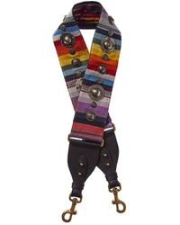 Dior Canvas & Leather Shoulder Strap - Multicolour
