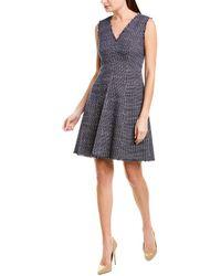 Rebecca Taylor Tweed A-line Dress - Blue