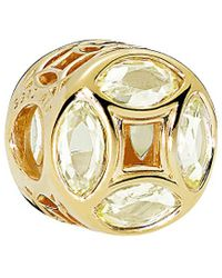 PANDORA Shine Moments 18k Over Silver Cz Good Fortune Coin Charm - Metallic