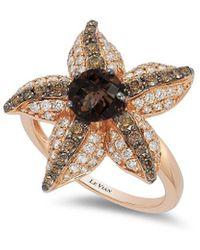 Le Vian ? Chocolatier? 14k Strawberry Gold? 1.70 Ct. Tw. Diamond & Smoky Quartz Ring - Metallic